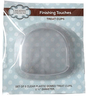 Creative Expressions Treat Cups Domed 6 Pack CETREATDOME