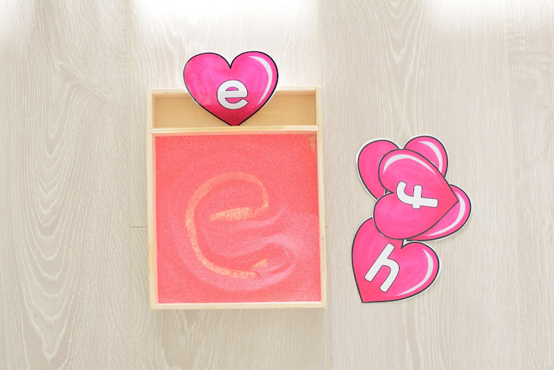Valentine's Day GUIDE FOR WRITING LETTERS AND NUMBERS