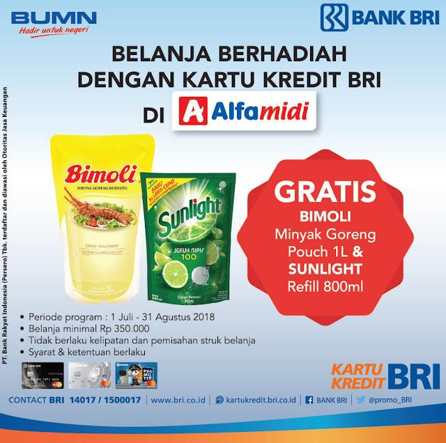 Bank Mandiri - Promo Belanja di Alfamidi Gratis Minyak Bimoli & Sunlight