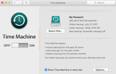 Select Disk Time Machine