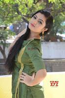 Akshitha cute beauty in Green Salwar at Satya Gang Movie Audio Success meet ~  Exclusive Galleries 024.jpg