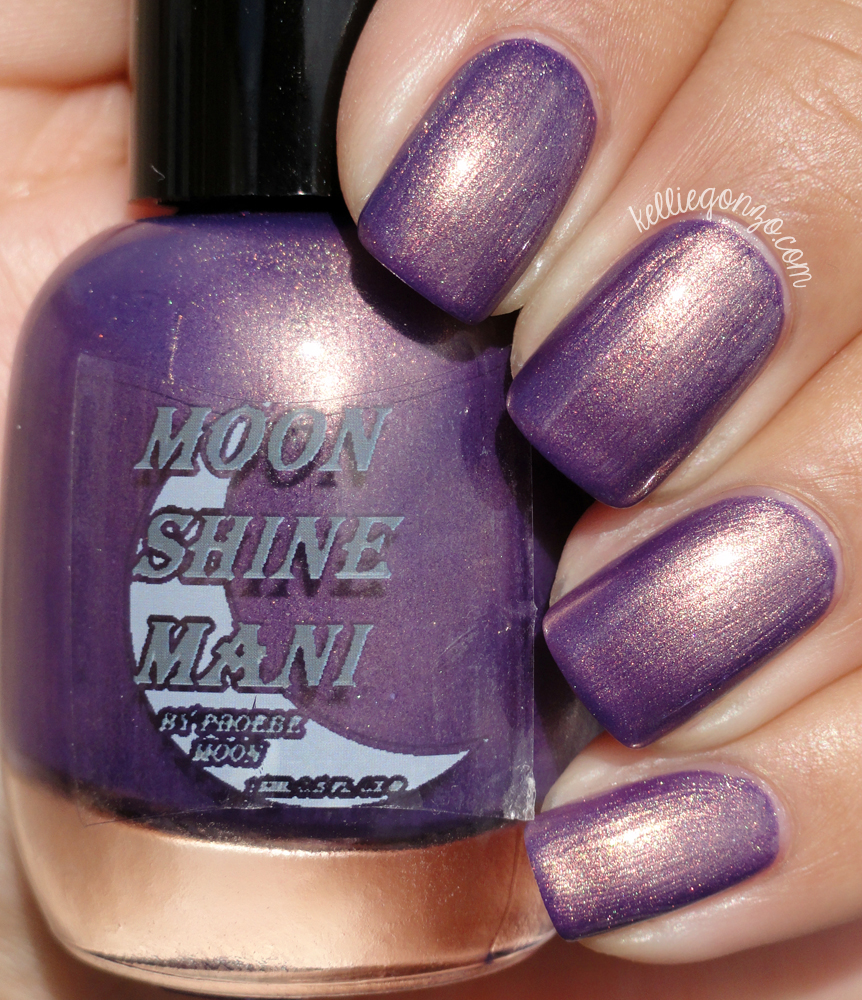 Moon Shine Mani Very Purpley