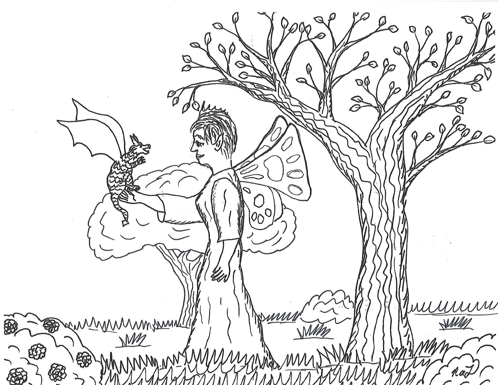 Robin S Great Coloring Pages Eleanor The Fairy Queen