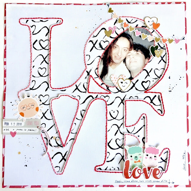 Love Scrapbook Layout by Angela Tombari
