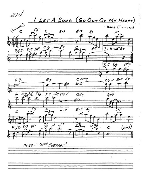 Partitura Saxofón Duke Ellington