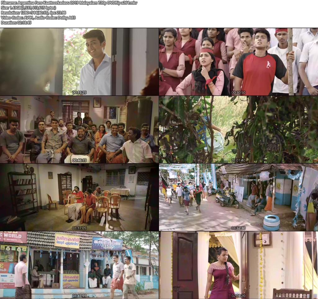 Argentina Fans Kaattoorkadavu 2019 Malayalam 720p DVDRip x264 | 480p | 300MB | 100MB HEVC Screenshot