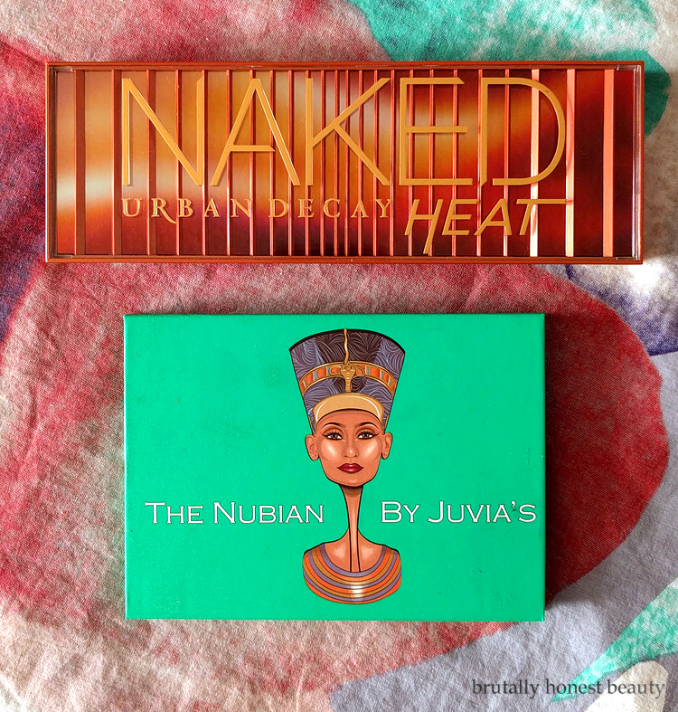 Urban Decay Naked Heat palette and Juvia's Place The Nubian palette