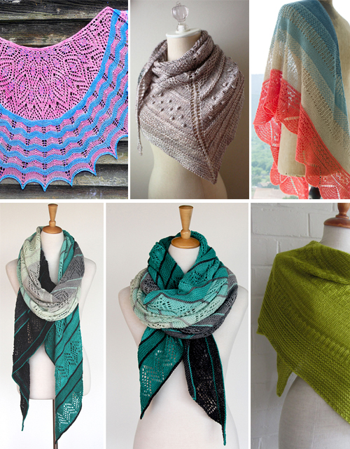 Stitch Stripe Shawl Knitting Patterns