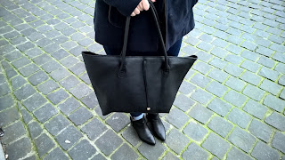 Clothes & Dreams: New from head to toe: H&M black bag, Geox ankle boots, Bershka coat