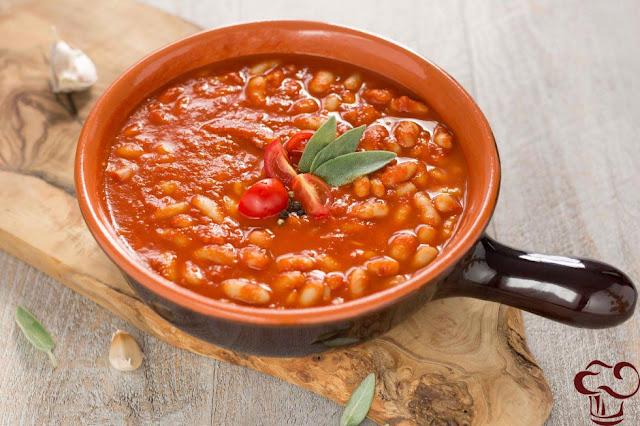 Receta frijoles en salsa