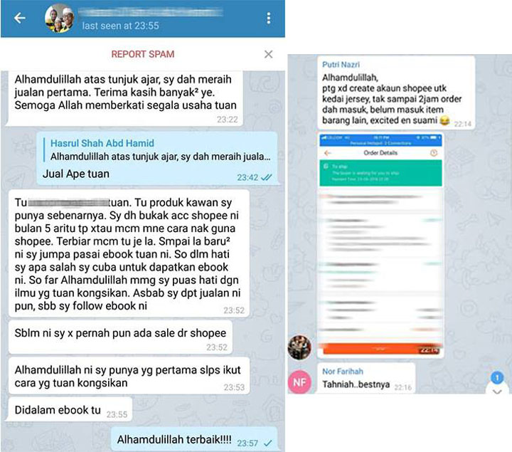 Testimoni panduan part time shopee