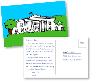 End-of-Year Post Card Writing Assessment that Meets the Common Core State Standards | Remedia Publications