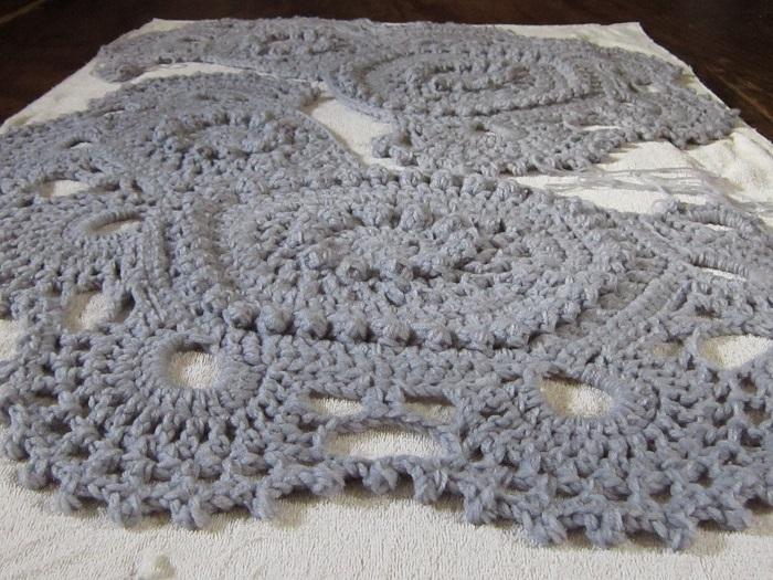 crochet, texture, popcorn, lace