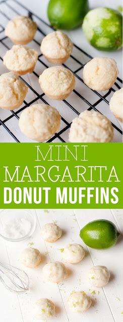 Mini Margarita Donut Muffins