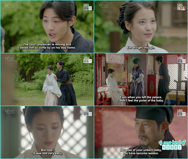 the royal doctor came and told hae soo about the unborn baby - Moon Lovers Scarlet Heart Ryeo - Episode 20 Finale (Eng Sub)