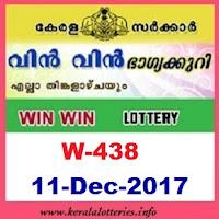 Kerala Lottery Results of Win Win  W-438 on 11.12.2017