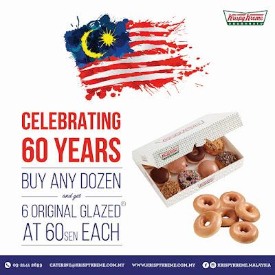 Krispy Kreme Doughnuts Malaysia Merdeka Original Glazed Discount Offer Promo