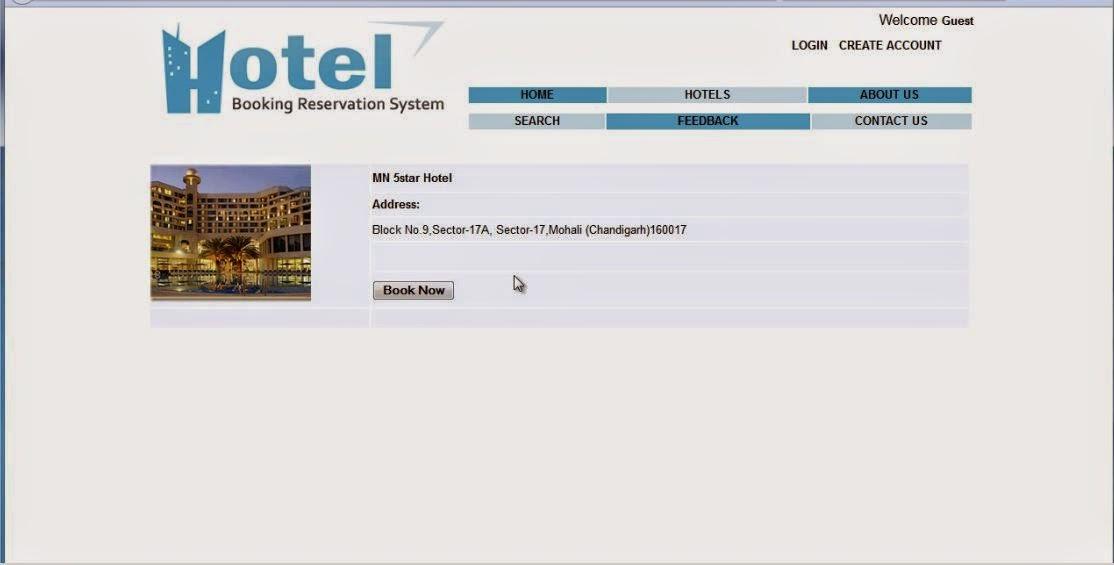 Full detail of hotel address