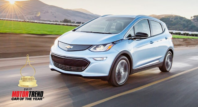 2017 Chevrolet Bolt EV Named MOTOR TREND Car of the Year