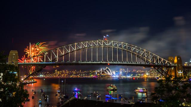 Keindahan suasana malam Sydney