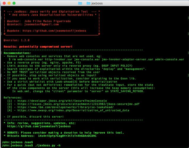 JexBoss - JBoss (and others Java Deserialization Vulnerabilities