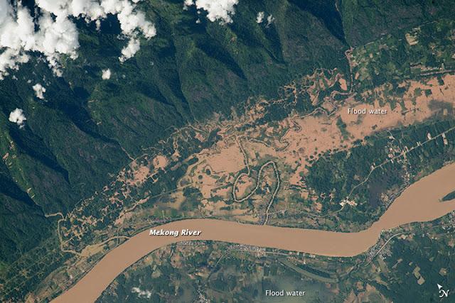 NASA Photograph Laos Floods From 2015