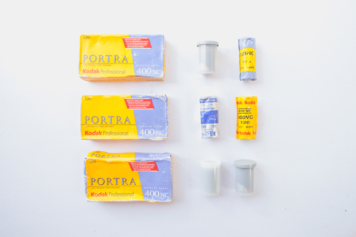 120mm and 35mm film