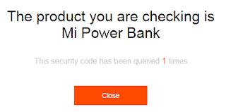 cara verifikasi keaslian power bank xiaomi