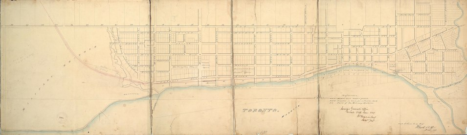 Toronto. by J.W. Macaulay. Surveyor General's Office Toronto 12th June 1837