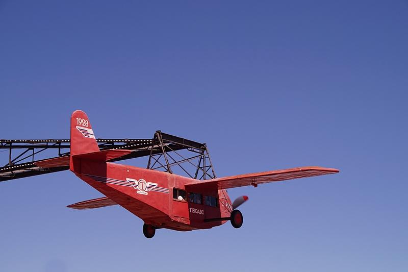 Red Aeroplane of Tibidabo mountain amusement park , Barcelona, Spain