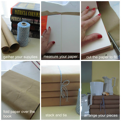 Step by Step instructions for covering books