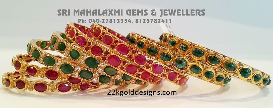 Ruby and Emerald Bangles Gallery Publish