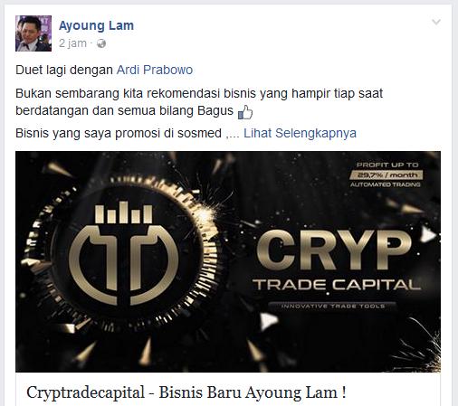 Ayoung Lam Promosikan Cryptrade