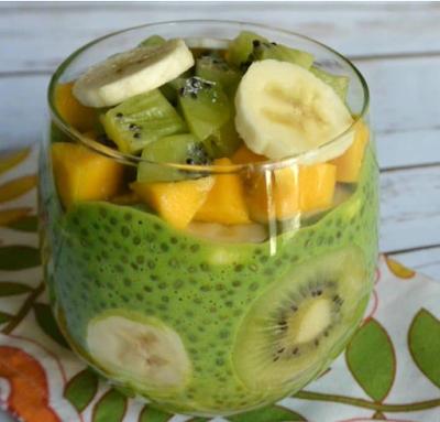 GREEN CHIA PUDDING #healthyrecipe #diet