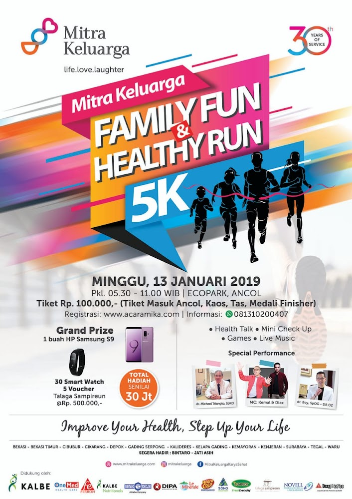 Mitra Keluarga Family Fun & Healthy Run 5K • 2019