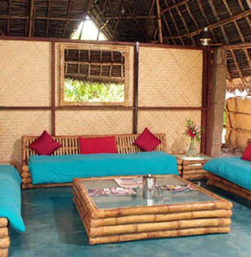 Art wall decor modern bamboo house design hawai and - Bamboo designs for interior designing ...