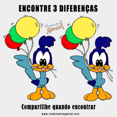 Encontre as 3 diferenças
