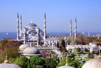 Tempat wisata terkenal di Turki istambul Istanbul Masjid biru blue mosque wisata turki