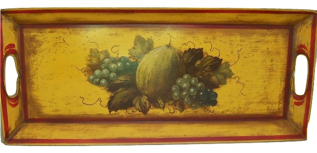 Peter Ompir Large Tole Painted Tray