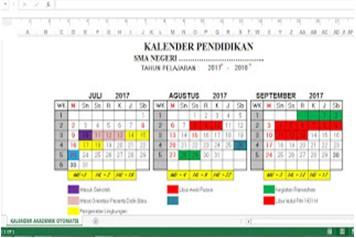 Download Kalender Pendidikan Otomatis Semua Tahun Ajar