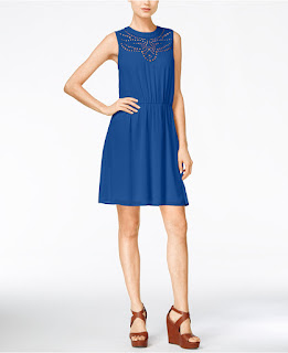 Maison Jules Eyelet Cutout A-Line Dress $40 (reg $80)