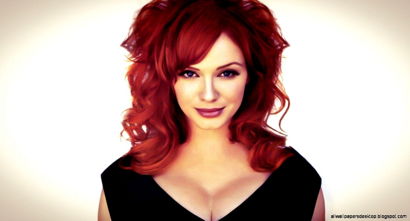Beauty Redhead Christina Hendricks American Actress Hd Wallpaper