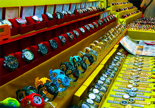 Copy watches for sale at Patong Night Market.jpg
