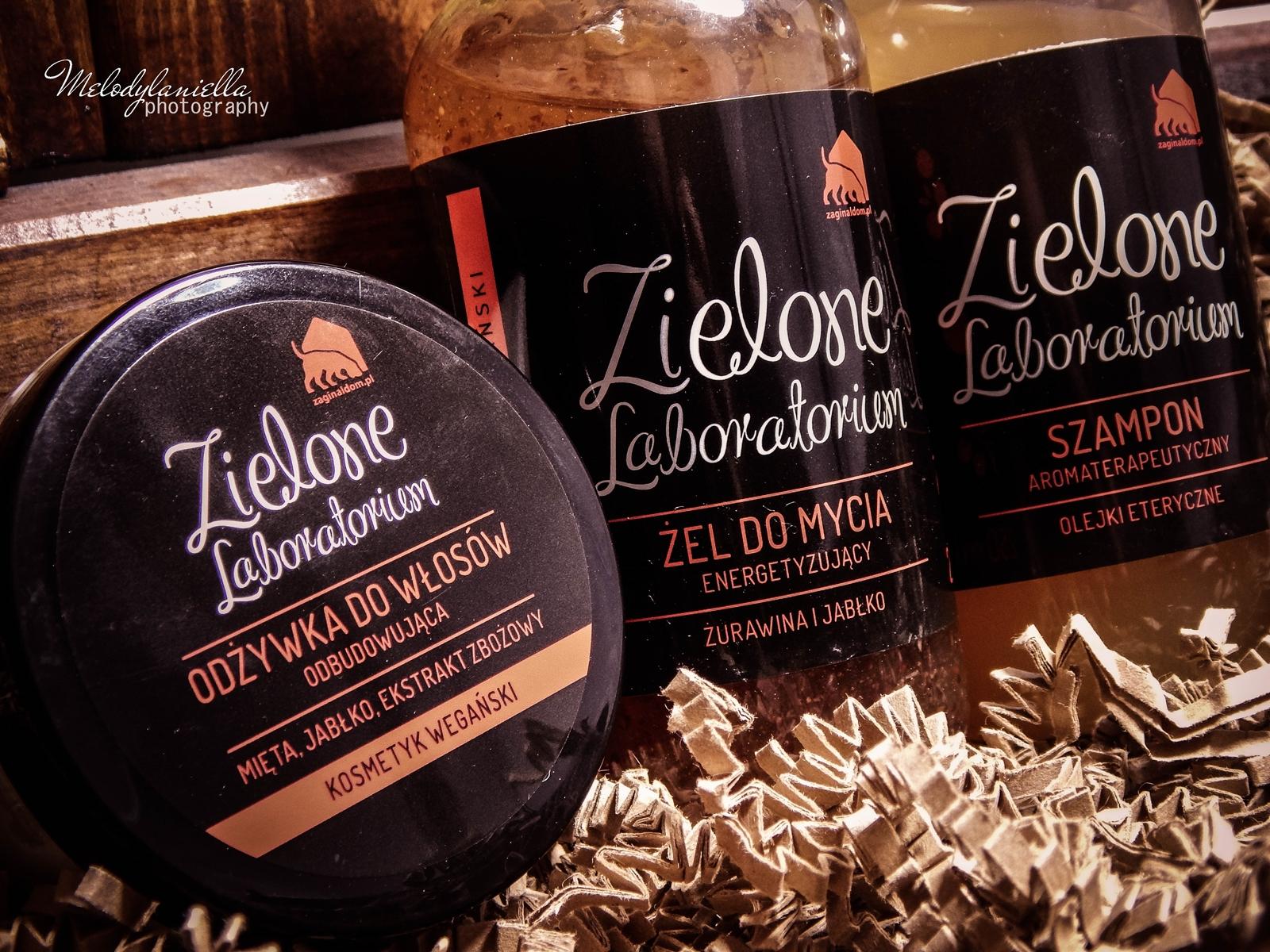 zielone laboratorium odżywka do włosów odbudowująca kosmetyki wegańskie żel do mycia szampon aromaterapeutyczny kosmetyki o mocnych zapachach olejki eteryczne kosmetyki naturalne melodylaniella styl