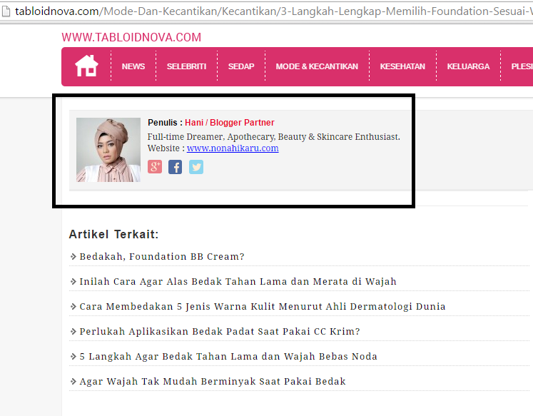 Tabloid Nova Blogger Partner