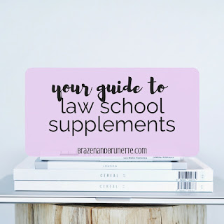 Wondering what is a law school supplement? Wondering, Do I need a law school supplement? Confused about the different types of law school supplements? This post is here to help! Read here for more about Quimbee law school outlines, Emanuel's law school outlines, Quimbiee law school case briefs, CaseBrief's law school case briefs, Oyez law school case briefs, Examples and Explanations (E&E) law school practice problems, Q&A law school practice problems, Short and Happy Guide law school books, CrunchTime law school books, Gilbert's law school books, and Law in a Flash law school flashcards | brazenandbrunette.com