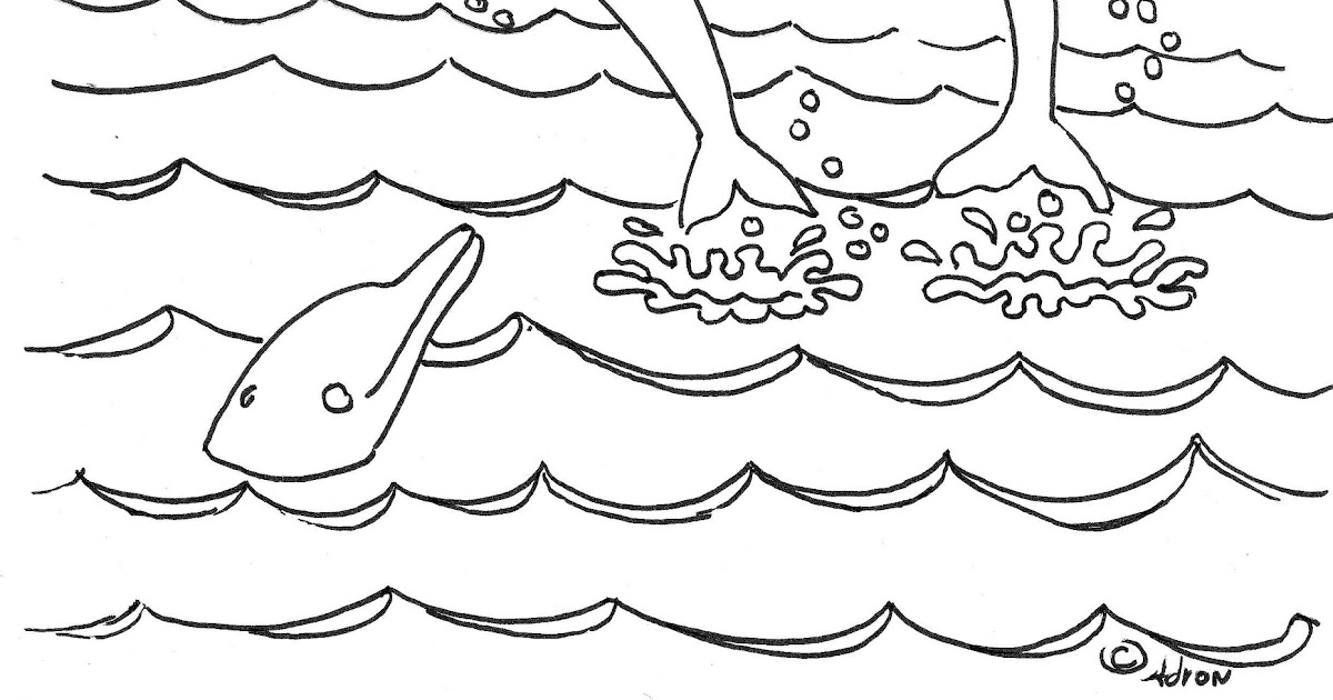 Coloring Pages for Kids by Mr. Adron: Dolphins Coloring
