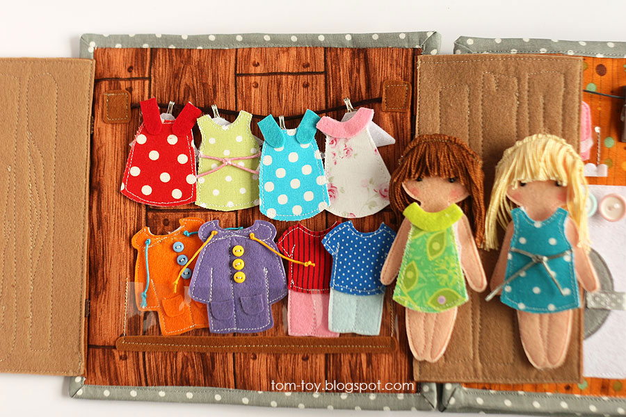 Cora's dollhouse, travel dollhouse, quiet busy book for girls, развивающая книжка, кукольный домик, гардероб