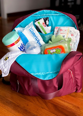 maroon backpack diapers wipes diaper bag