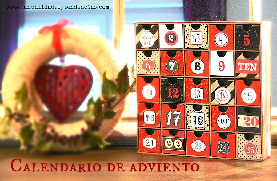 Cómo decorar un calendario de adviento de papel maché